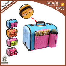 Portable plastic pet carrier dog kennel