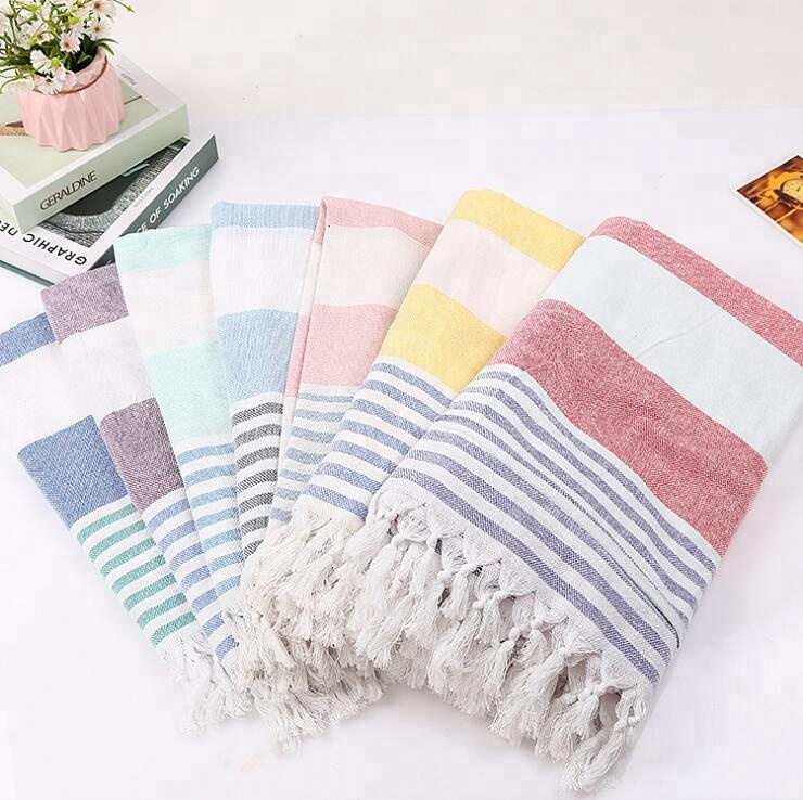 2018 Fashion Style 100% Cotton Pestemal Turkish Fouta Beach <strong>Towel</strong> Best for Spa Bath and Pool