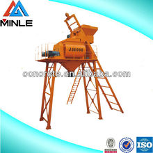 JS500 small portable concrete mixer machine with lift