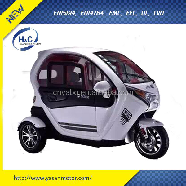 2016 New design enclosed 3 wheel scooter for passenger, three wheel passenger tricycles with seat