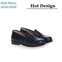 J-0090 2016 Style Leather Children Dress Shoes Boys Navy Blue Leather Loafer