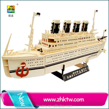 2016 Cotowins Coupe wooden ship kit 3d puzzle diy toy Titanic wooden ship model toy