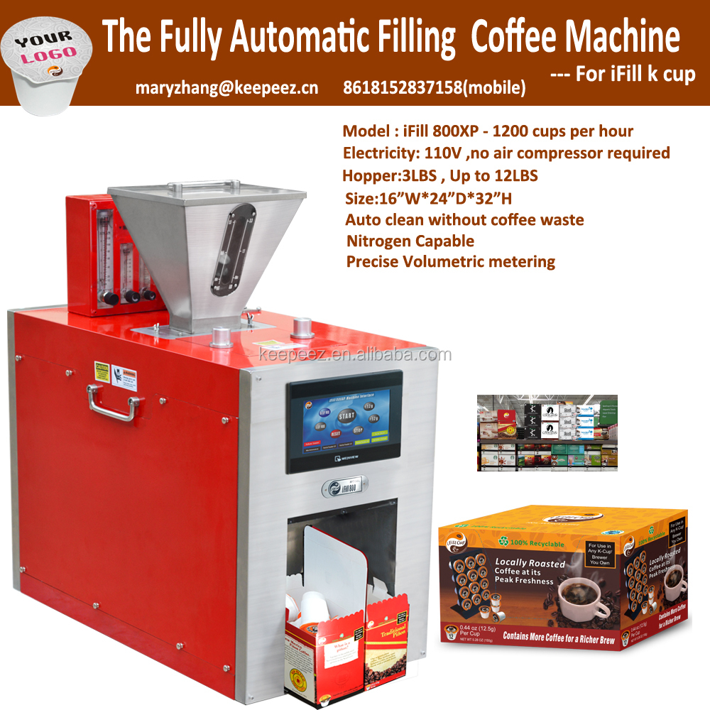 iFill 800XP <strong>1200</strong> Cups Per Hour <strong>k</strong> cup filling and sealing machine