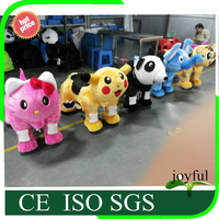 Good pric import opportunities plush animal car walking animal on toy zoo animal scooter