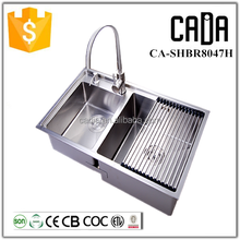 complete kitchen commercial stainless steel design matching vessel sinks with faucet