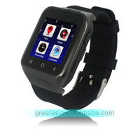 Android 4.2. 3G cheap wrist smart watch phone with 5.0MP HD camera