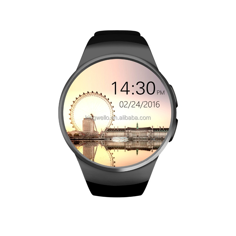 2017 Beautiful Round Smart Watch Phone KW18 with Android system