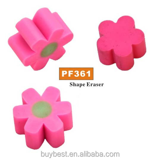 flower sheape promotion eraser