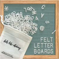 changeable letter board 10*10inch letterboard with black felt for decoration