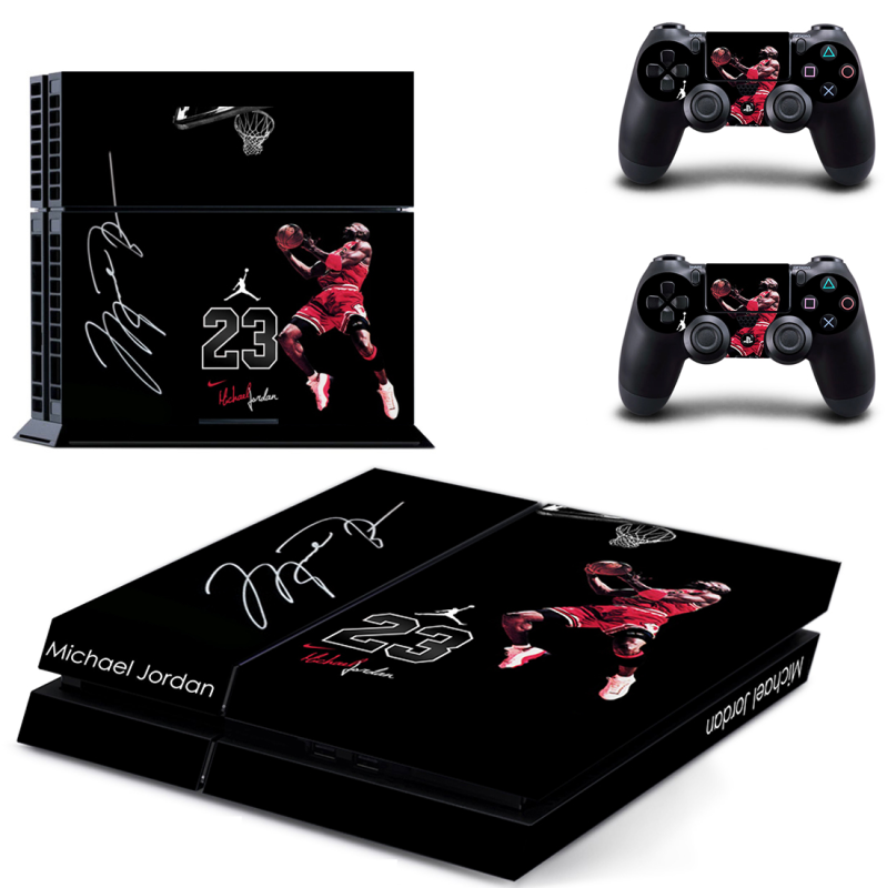 Full set Michael Jordan sticker for ps4 console controller vinyl decal