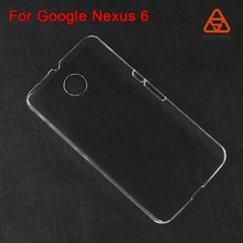 For Google Nexus 6 PC case clear, transparent hard case NEW model alibaba China for moto nexus 6 wallet card holder leather case