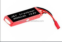 14.8V/4000mAh LIPO Battery Pack /14.8V 4000mAh Lithium Li-polymer Rechargeable Battery Pack