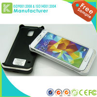 New arrival !3800mah rechargeable power bank cover for Samsung Galaxy S5