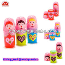 Plastic Russian Doll Lip Balm Tube