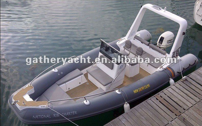 Luxury boat rib680