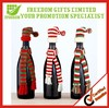 Christmas Hat Knitted Bottle Whole Hat And Scarf Set