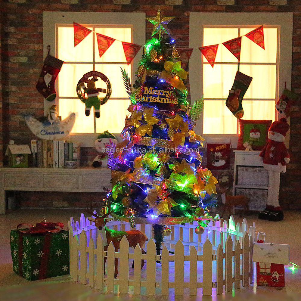 Wholesale Pine Needle Artificial 6Ft Fiber Optic Christmas Tree