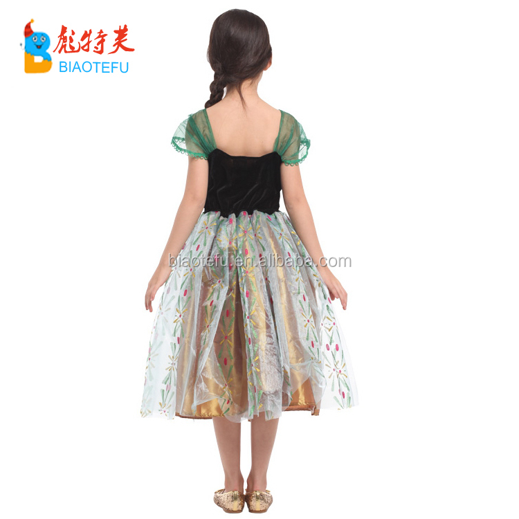 hot sale carnival party princess frozen elsa anna cosplay fancy dress costume girls cosplay fancy dress kids in TV and Movie