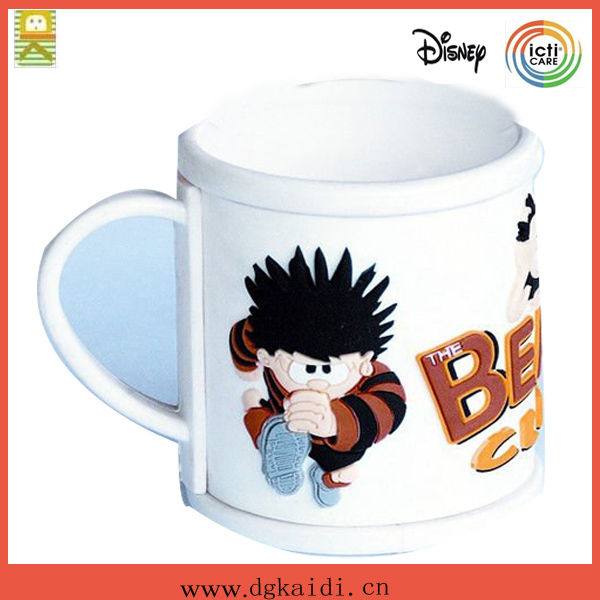 Popular promotional plastic PVC mug