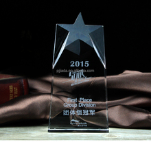 The most popular fashion star style crystal trophy and award souvenirs