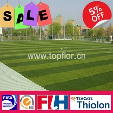 Synthetic artificial grass turf for football field