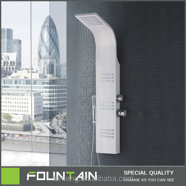 Corner Jacuzzi Steam Showers Aluminum Alloy Shower Panel