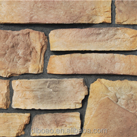 Artificial flat stone for building wall decoration