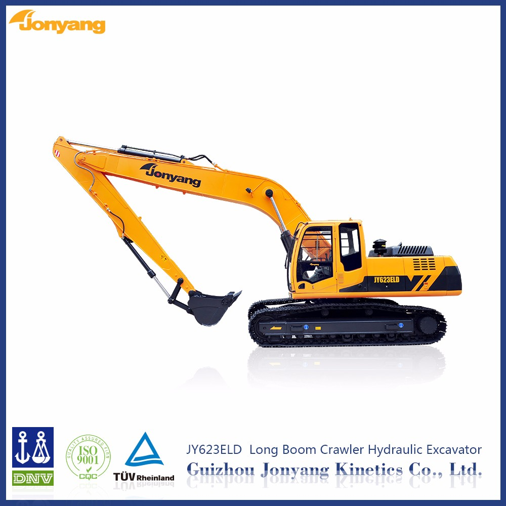 new JY623ELD long boom hydraulic excavator machine for sale
