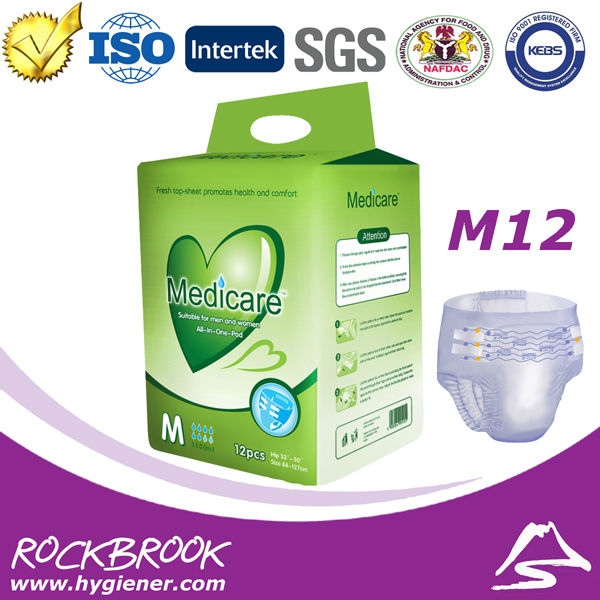 Medicare Disposable Adult Diaper in Bulk, Wholesale Adult Diaper for Old Men