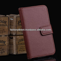 New Leather Flip Case Cover Pouch Bumper Wallet for iPhone 4 4G 4S Brown Best Quality