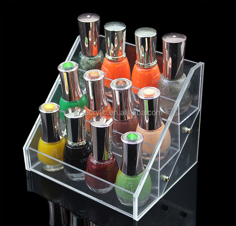 Acrylic cosmetic organizer display stand for nail beauty