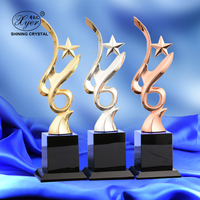 Folk Art Gold Star Trophy medal Corporate Year-end Awards