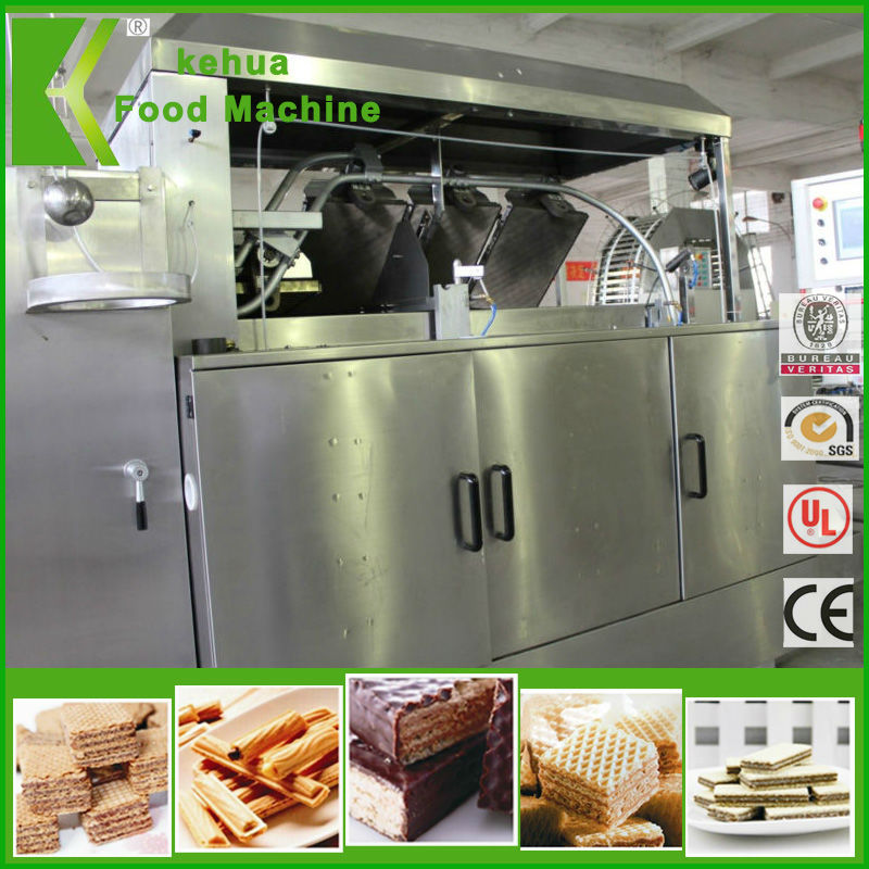 gas heated wafer biscuit machine production line with 39 plates