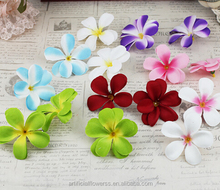 New arrival white quality artificial real touch plumeria flowers