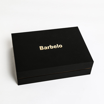 Wholesale Custom Logo Printed Black Packaging Paper Gift Box