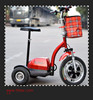 High Quality Safe Adult Electric Scooter SKD 3 Wheel Mobility Scooter Zappy Free