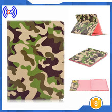 Army color tablet case, protective back cover case for ipad 2 3 leather