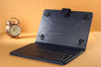 universal bluetooth keyboard tablet leather flip case for 7 inch tablet pc