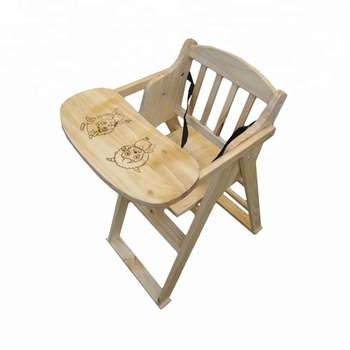 High Quality Foldable Wooden Baby Feeding Dining Chair