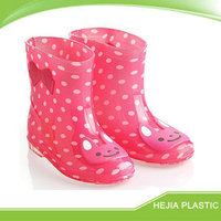kids shoes wholesale crystal rain shoes with cute cartoon print pvc children boots
