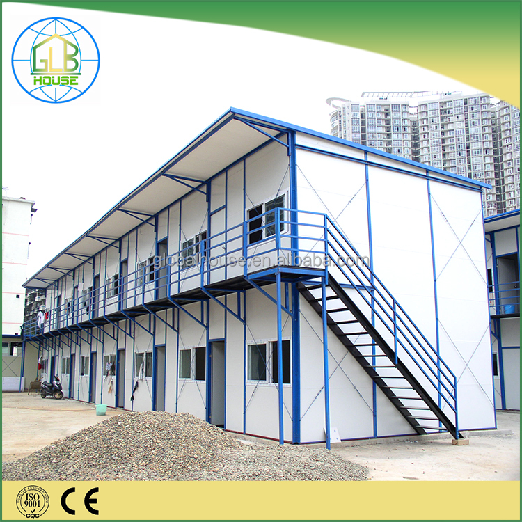 Duplex steel frame sandwich panel low cost prefab house Jamaica for labour camp