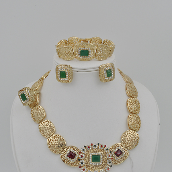 Wholesale 18K Gold Plated Moroccan Wedding Jewelry Set