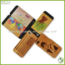 Specail design carving wood phone case for iphone 5