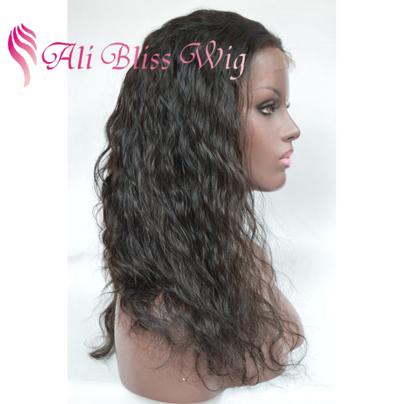 Natural Looking 24 Inch Long Brazilian Water Wave Human Real Hair Full Lace Bohemian Curl Wigs for South Africa Black Women