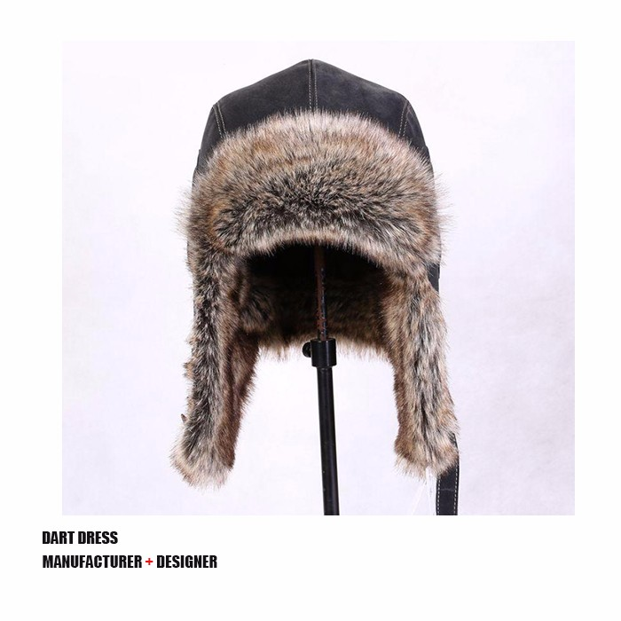 Leather Faux Fur Ushanka Eaeflap Trapper Hats