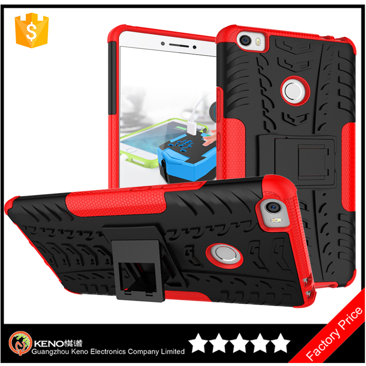 Keno hotsale PC TPU Phone Case 2 in 1 case cover For Xiaomi <strong>max</strong> With Stand