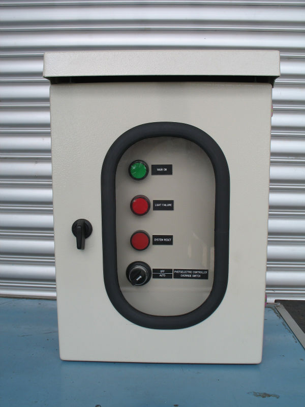 Single L-864 Red LED Obstruction Light Control Panel
