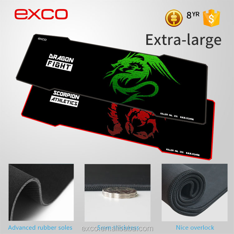 EXCO new design cheap big custom gaming magnetic keyboard with rubber mouse pad