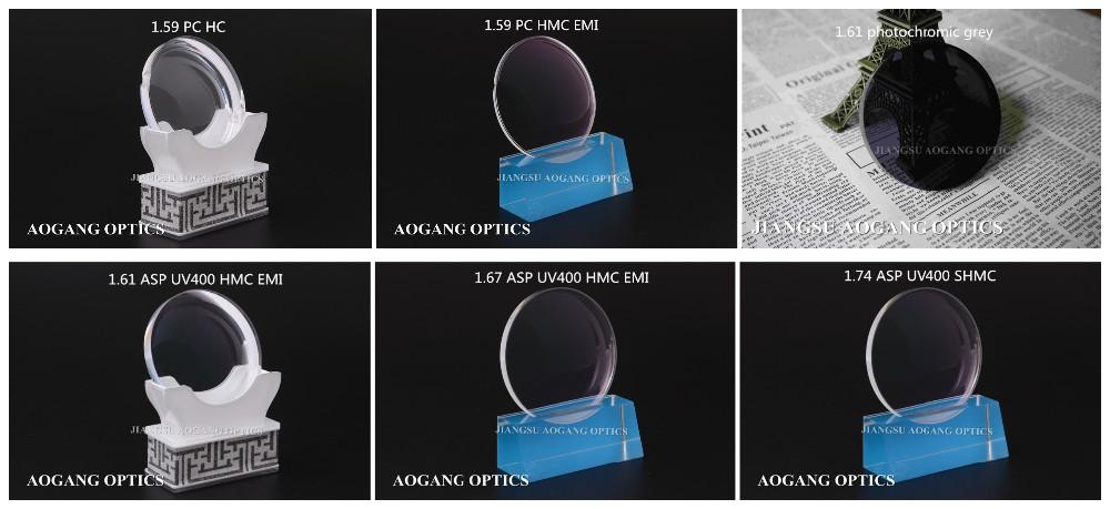wholesale price CR39 1.49, 1.56, 1.59 PC, 1.61, 1.67, 1.74 optical lens factory