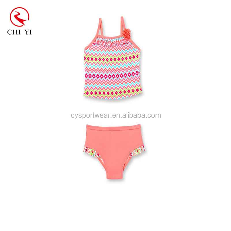 Custom Swimsuit Girl For One Piece Wholesale Lovely Heart Printing Kid Swimwear